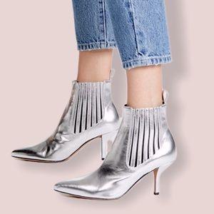 🆕 Diane Von Furstenberg Silver mollo booties 7